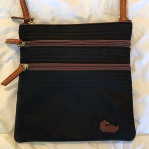 NWOT Dooney and Bourke black, nylon crossbody bag